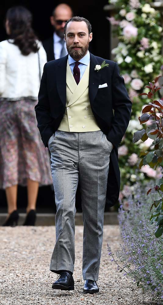 James Middleton, brother of the bride, attends the wedding of Pippa Middleton and James Matthews at St Mark's Church in Englefield, west of London, on May 20, 2017. REUTERS/Justin Tallis/Pool
