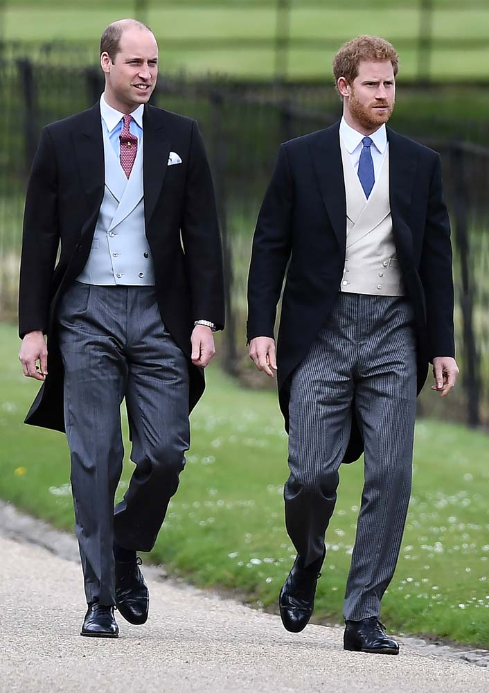 Britain's Prince Harry (R) and Prince William attend the wedding of Pippa Middleton, the sister of Britain's Catherine, Duchess of Cambridge, and James Matthews at St Mark's Church in Englefield, west of London, on May 20, 2017. REUTERS/Justin Tallis/Pool