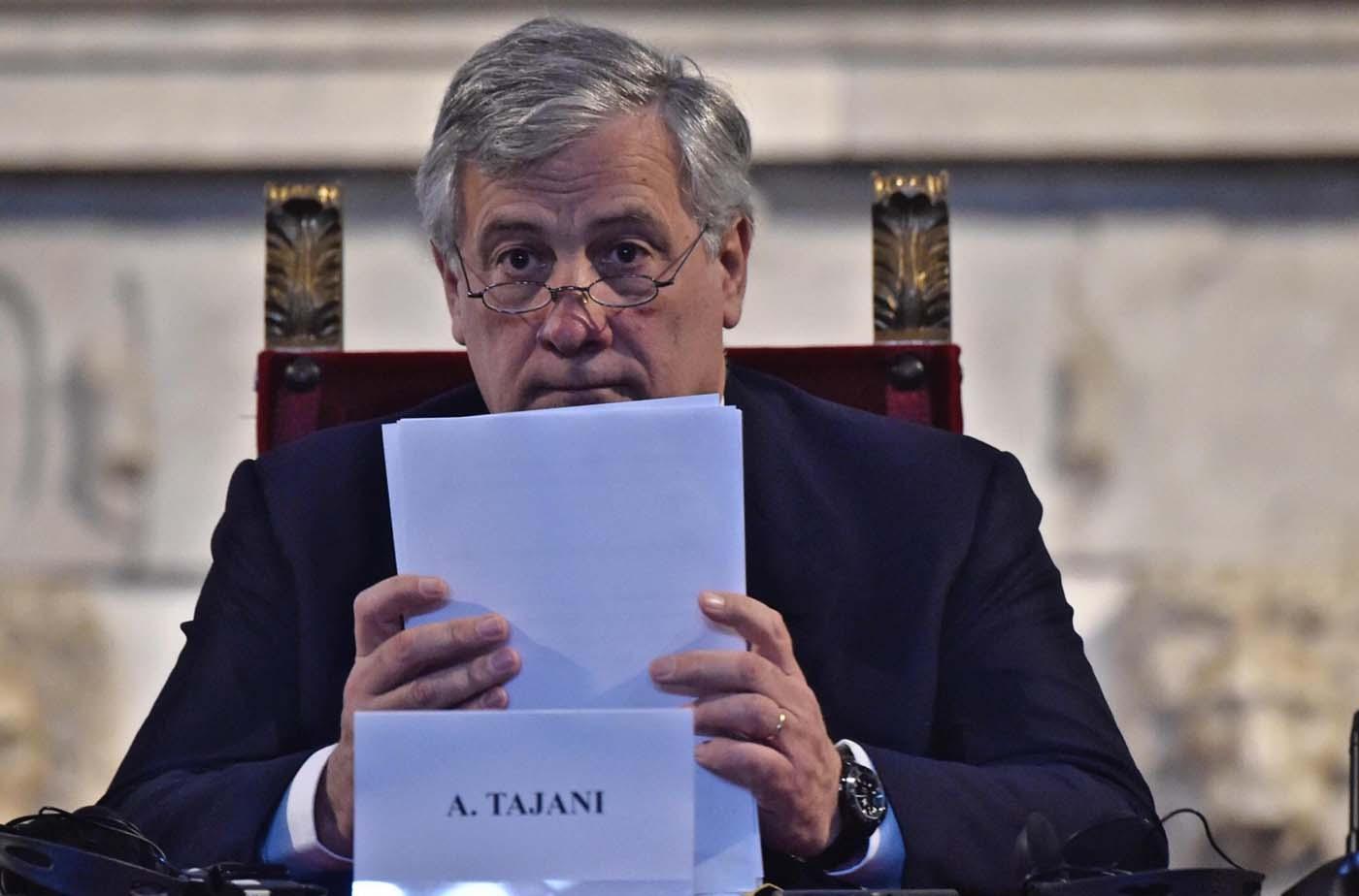 El presidente del Parlamento Europeo, Antonio Tajani bilaterales y preparar la próxima cumbre de la Comunidad de Estados Latinoamericanos y Caribeños (Celac) que tendrá lugar en El Salvador en octubre. EFE/MAURIZIO DEGL' INNOCENTI