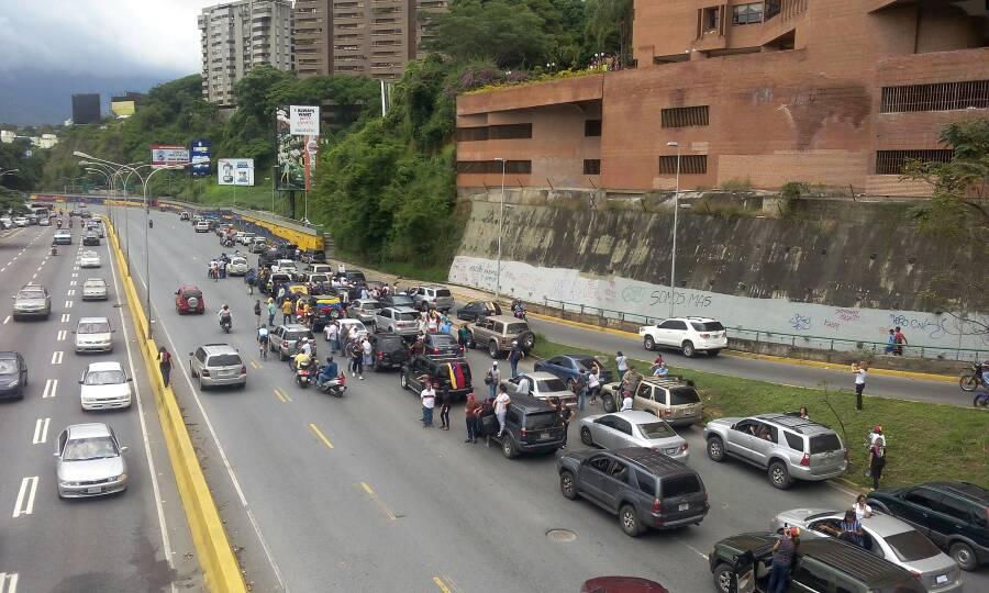 Caravana por la autopista