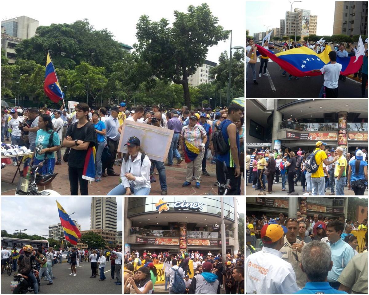 Composición de las concentraciones en Caracas