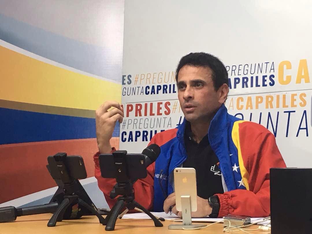 El gobernador de Miranda, Henrique Capriles