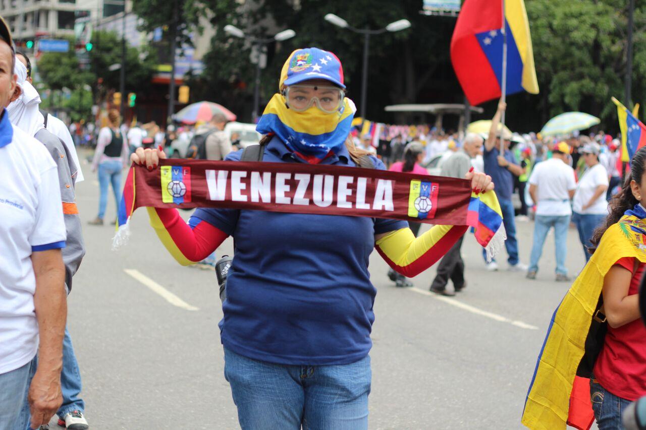Manifestantes en Altamira
