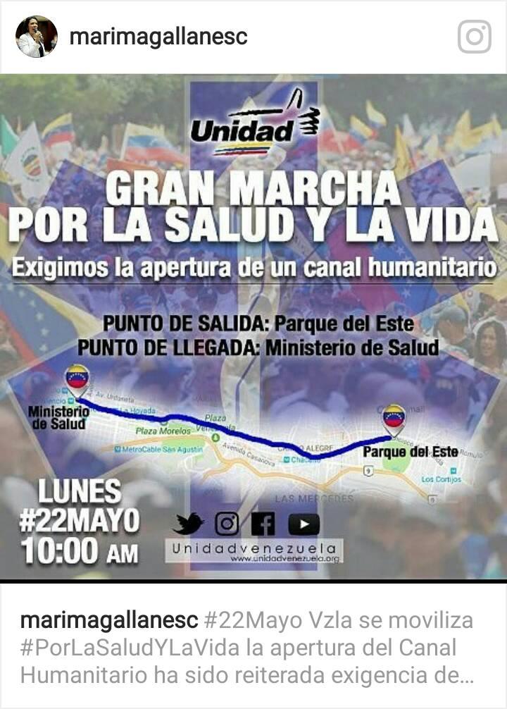 Mapa para la marcha de este #22May