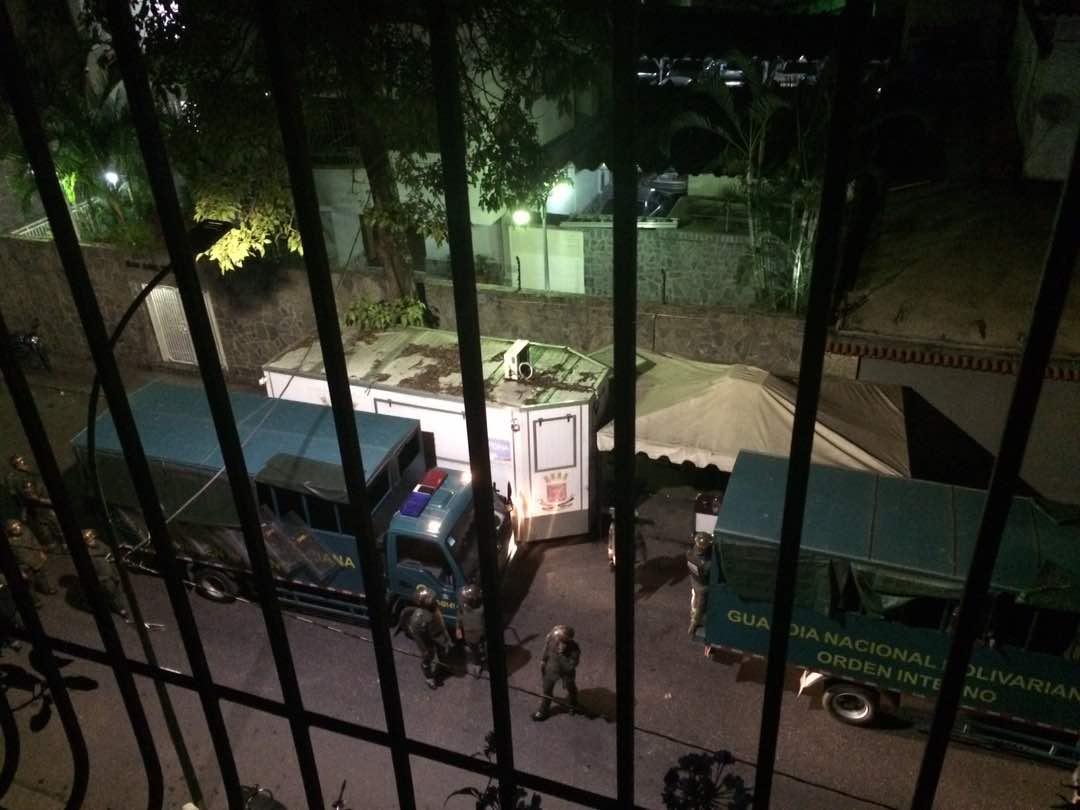 Paramilitares hicieron de las suyas en El Paraíso. Efectivos de la GN acudieron al lugar. Foto: Cortesía