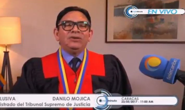 Danilo Mojica, magistrado de la Sala Social del TSJ / Foto captura tv