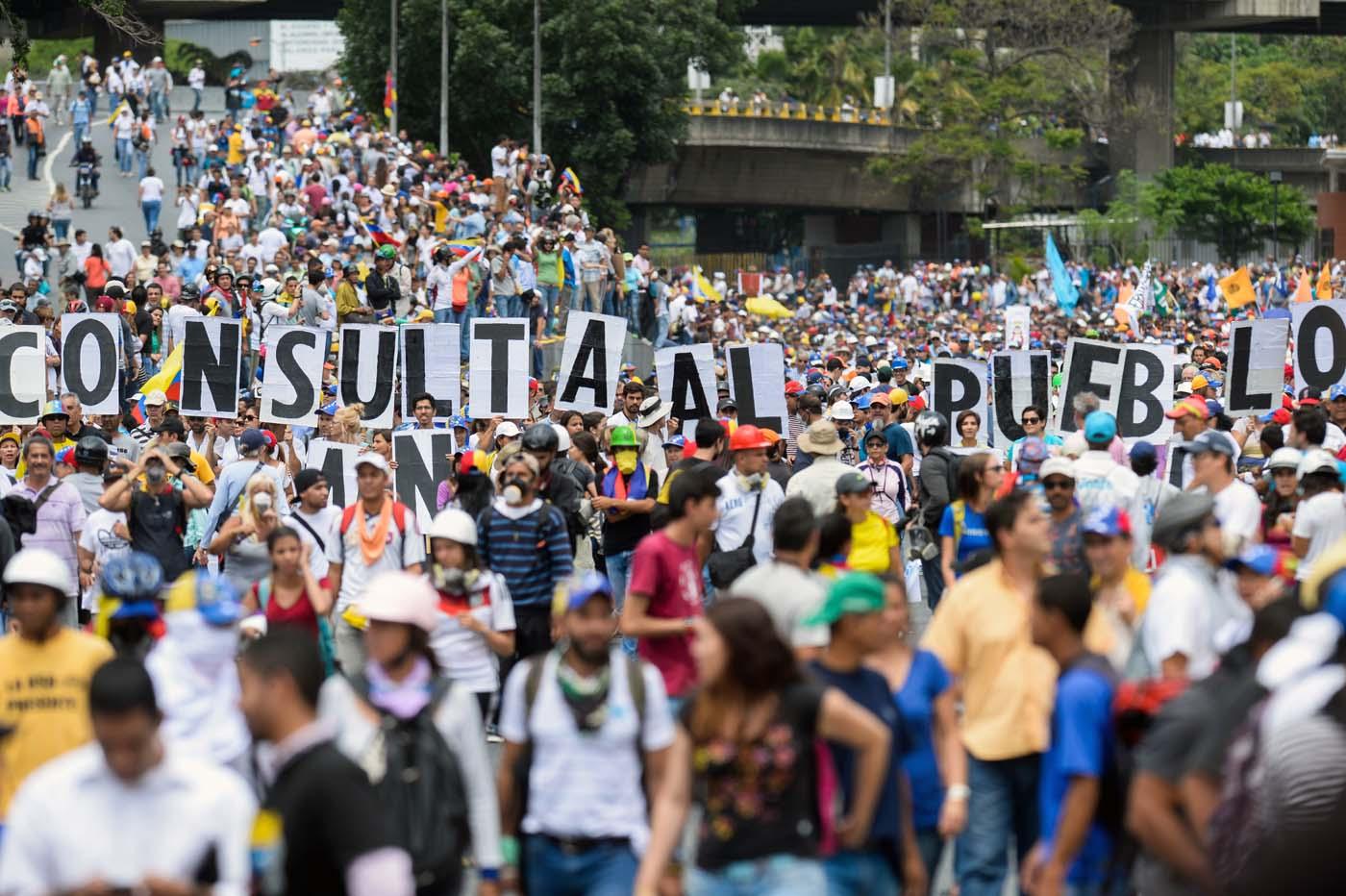 Marcha del 31 de marzo contra la Constituyente de Maduro.  / AFP PHOTO / FEDERICO PARRA