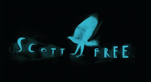 El director de las películas 'Gladiador' y 'Misión Rescate', Ridley Scott, tiene su propia compañía cinematográfica, Scott Free ('Scott libre'). En la animación, una imagen de la cual es el logo de la empresa, un hombre se convierte en un ave, en una metáfora de la obtención de la libertad.