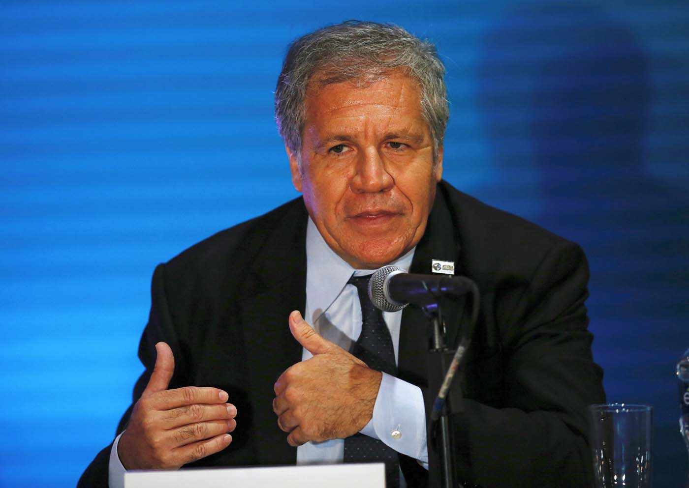 Organization of American States (OAS) Secretary General Luis Almagro attends a news conference ahead of the OAS 47th General Assembly in Cancun, Mexico June 19, 2017. REUTERS/Carlos Jasso