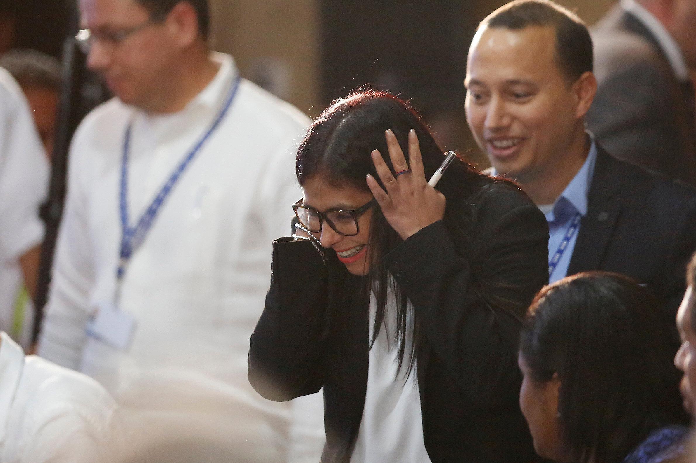 La canciller venezolana, Delcy Rodríguez. REUTERS/Carlos Jasso