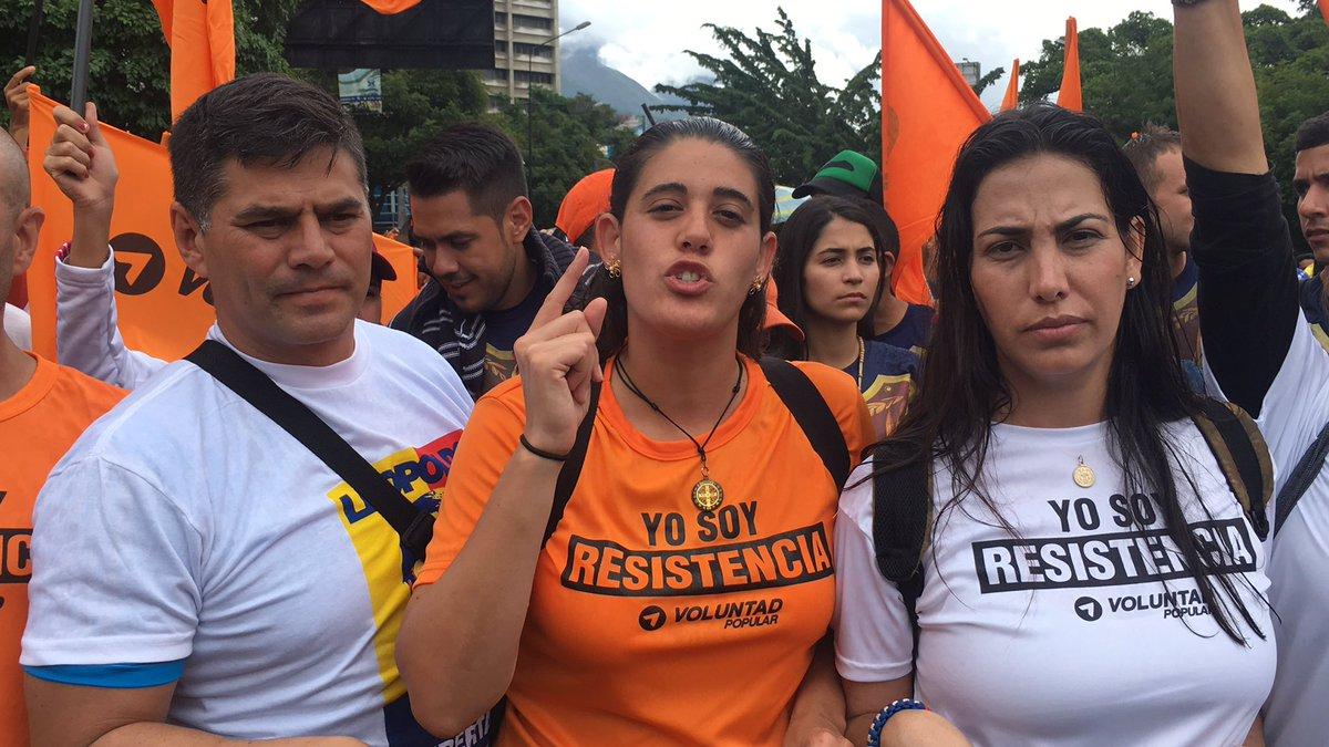 Dirigente juvenil nacional de Voluntad Popular, Ana Karina García
