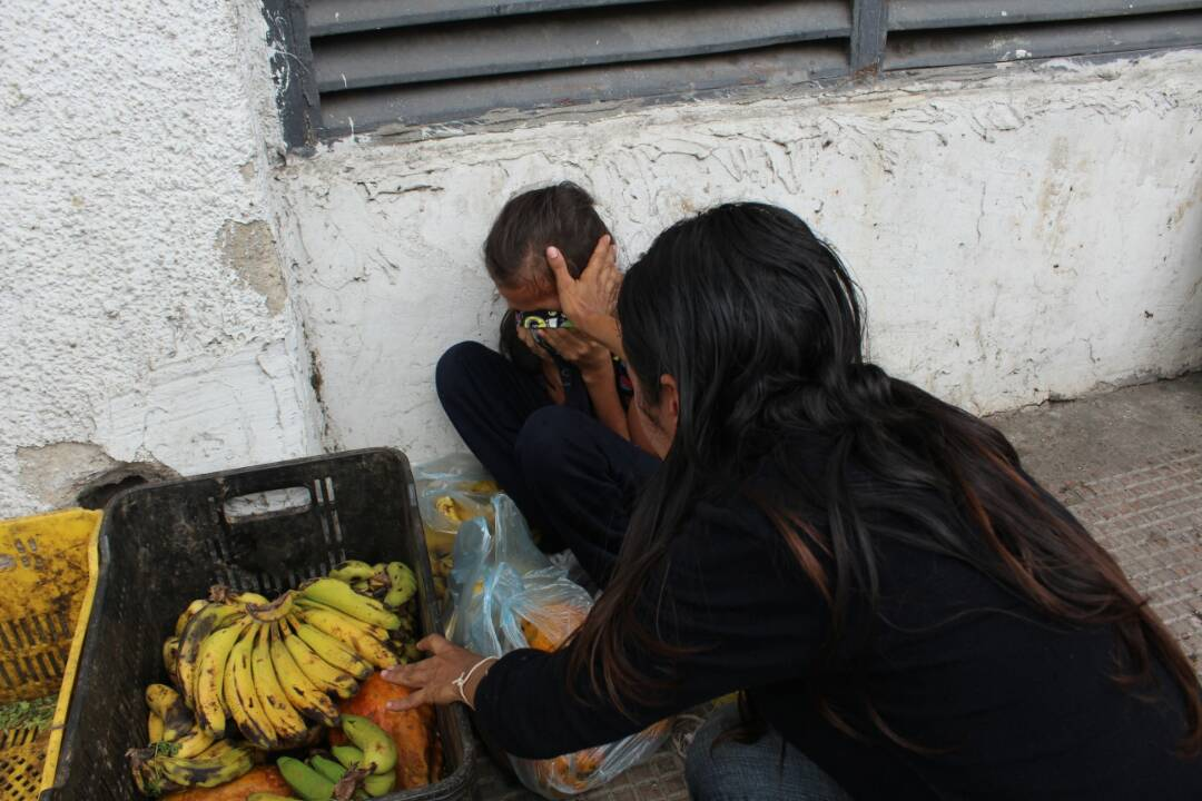 Foto: Afectador por represion en Bello monte / Regulo Gómez