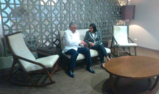 Foto: Delcy Rodríguez llegó a Cancún para reunión de la OEA / Cancillería
