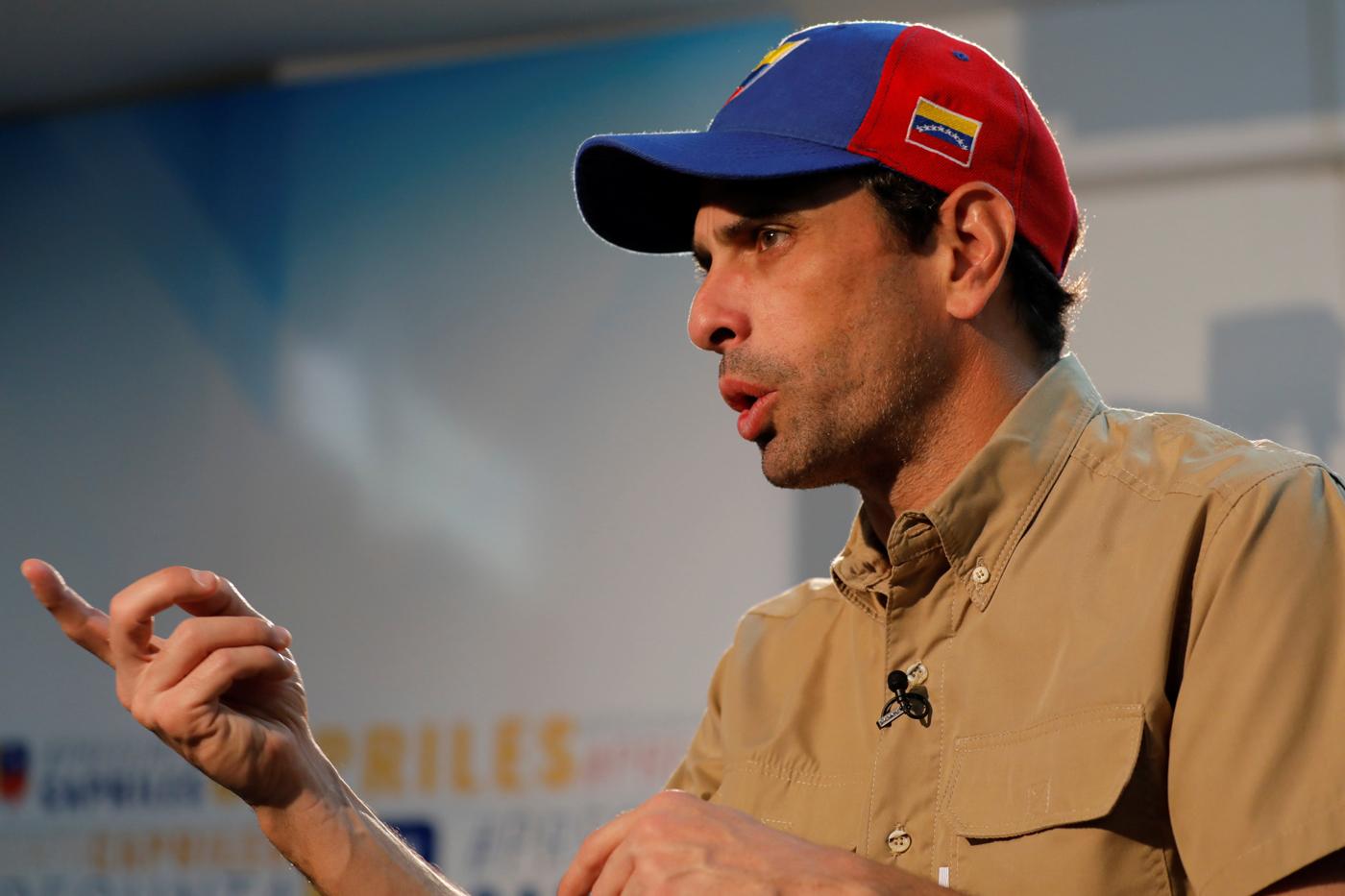 El gobernador del estado Miranda Henrique Capriles. Foto: Reuters