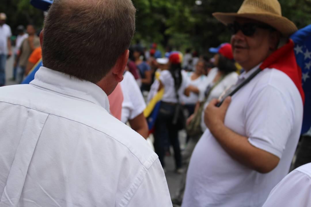 El diputado a la Asamblea Nacional (AN) por el Estado Zulia, Juan Pablo Guanipa acompañó la movilización en Caracas
