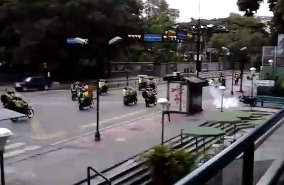 Una moto inerte llevó gas