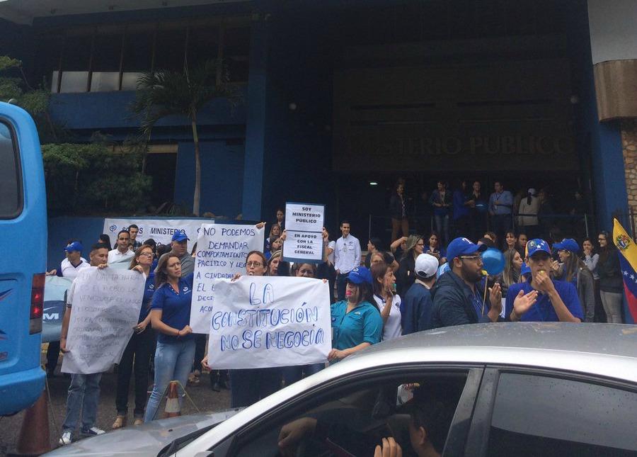 Foto: Sede del MP en Táchira protesta en rechazo a la Constituyente  / Fuerza Venezuela