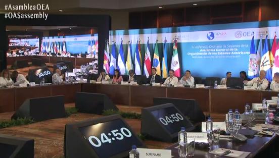 En la reunión participan 500 organizaciones de la sociedad civil (Captura)