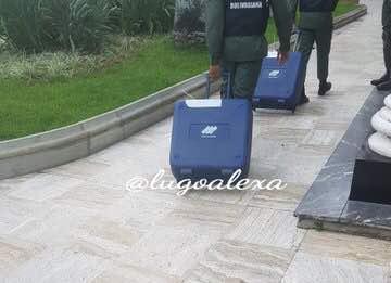 El material era movilizado por efectivos de la GNB. @Lugoalexa