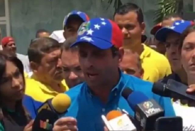Henrique Capriles, gobernador del estado Miranda / Foto captura tv