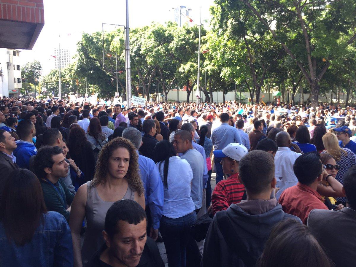 Foto: Trabajadores del Ministerio Público se manifiestan en apoyo a la Fiscal General / Cortesía