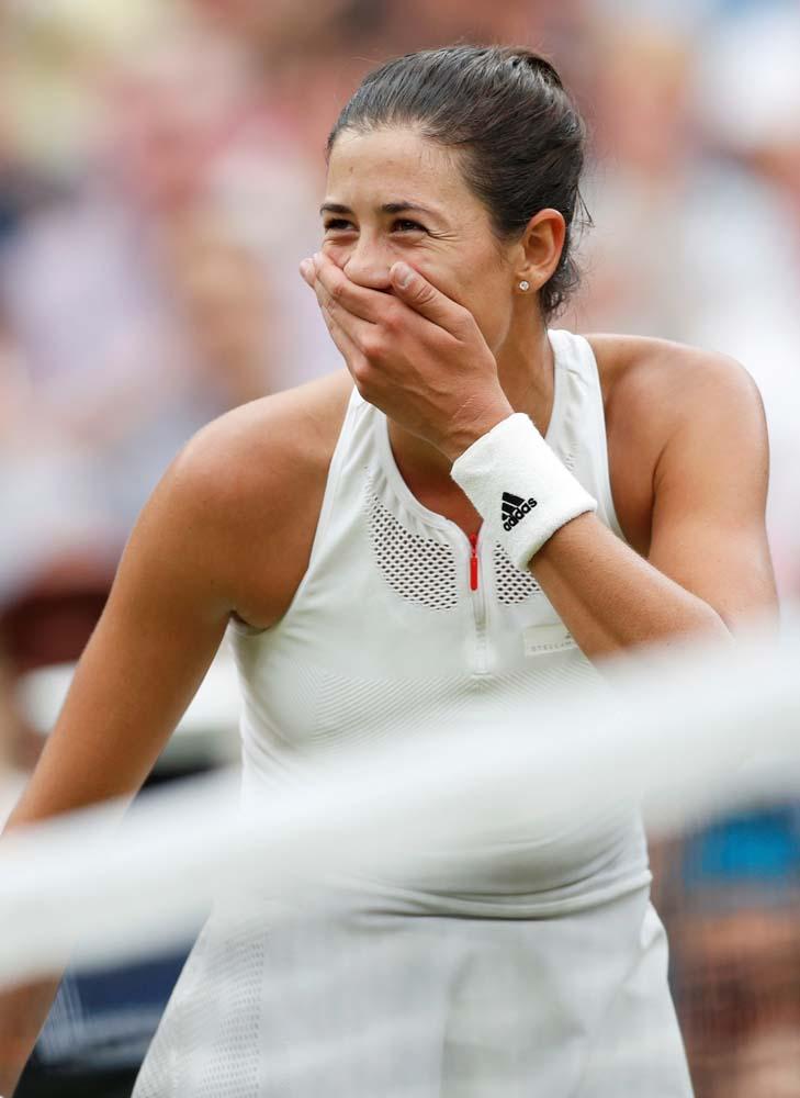 Tennis - Wimbledon - London, Britain - July 15, 2017 Spain's Garbine Muguruza celebrates winning the final against Venus Williams of the U.S. REUTERS/Matthew Childs