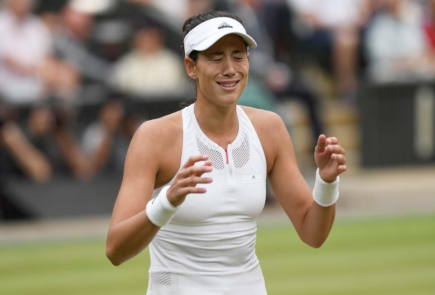 Tennis - Wimbledon - London, Britain - July 15, 2017 Spain's Garbine Muguruza celebrates winning the final against Venus Williams of the U.S. REUTERS/Tony O'Brien