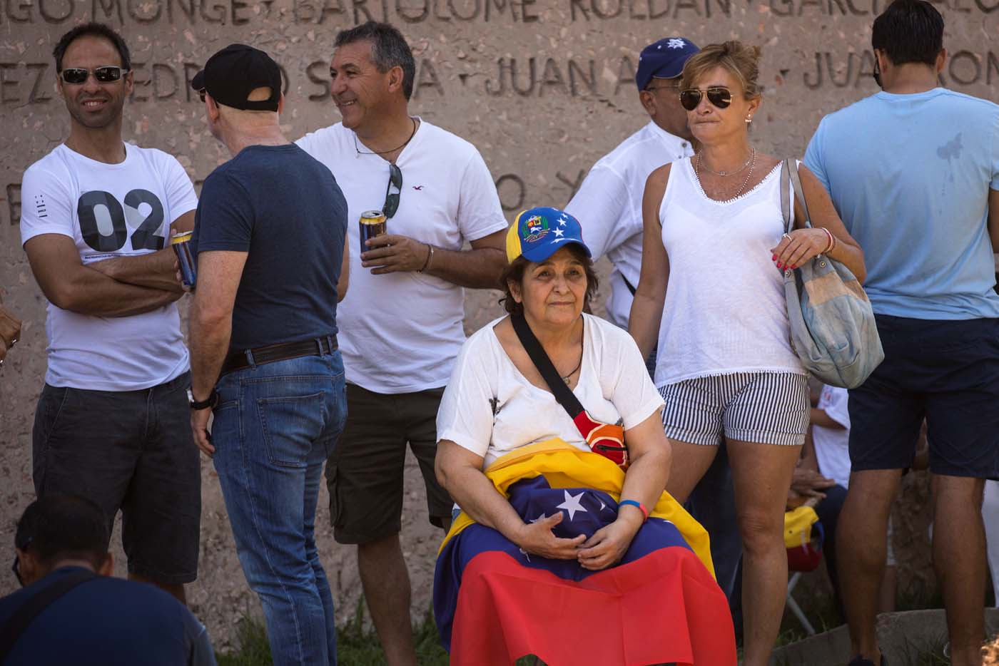 People wait to vote during an unofficial plebiscite against Venezuela's President Nicolas Maduro's government, in Madrid, Spain, July 16, 2017. REUTERS/Juan Medina