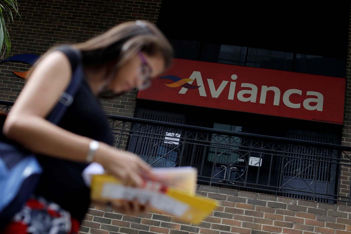 An office of Avianca airlines is seen in Caracas, Venezuela July 27, 2017. REUTERS/Ueslei Marcelino