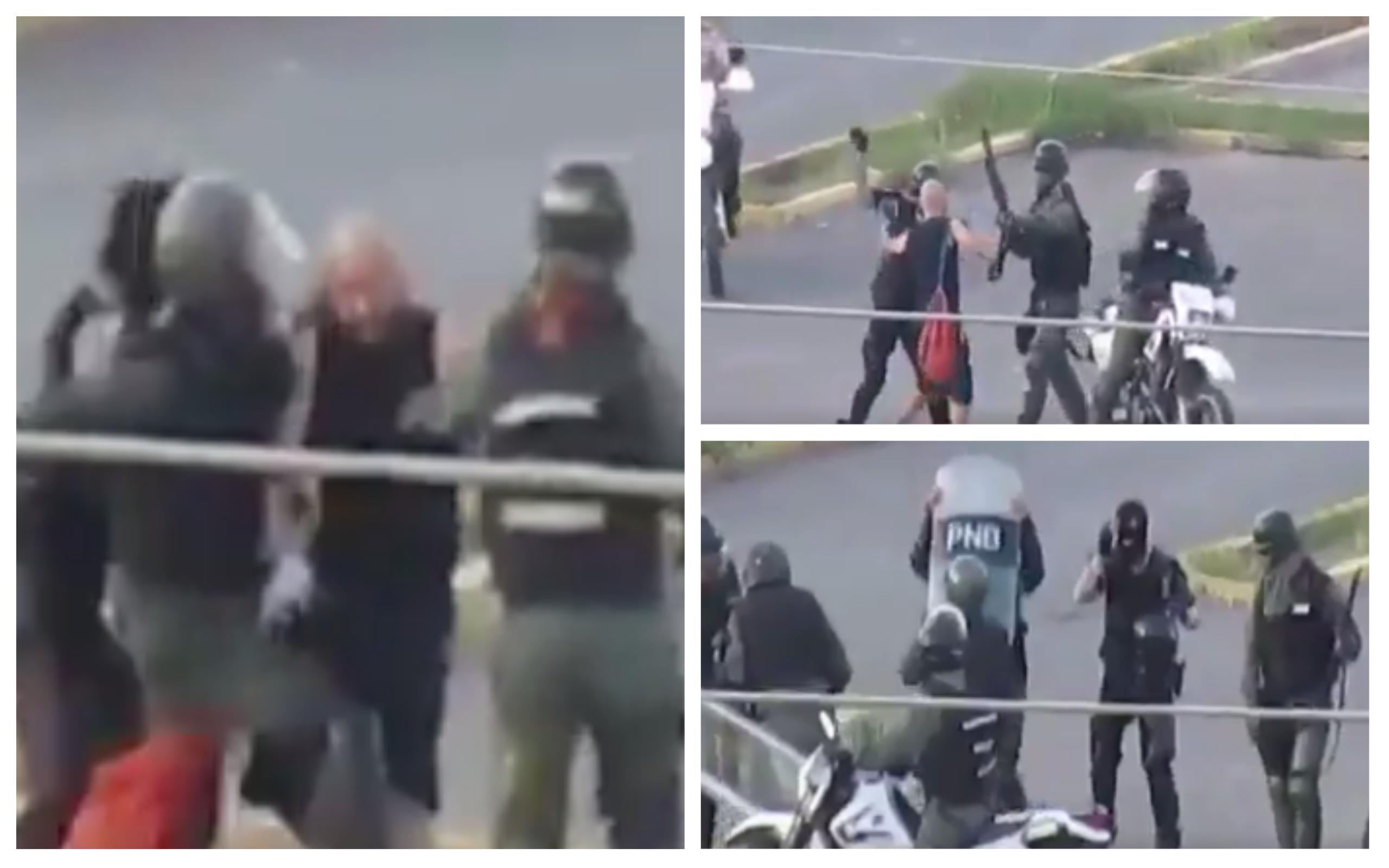 El hombre solitario y desarmado fue abordado de manera violenta por los uniformados en Lechería.