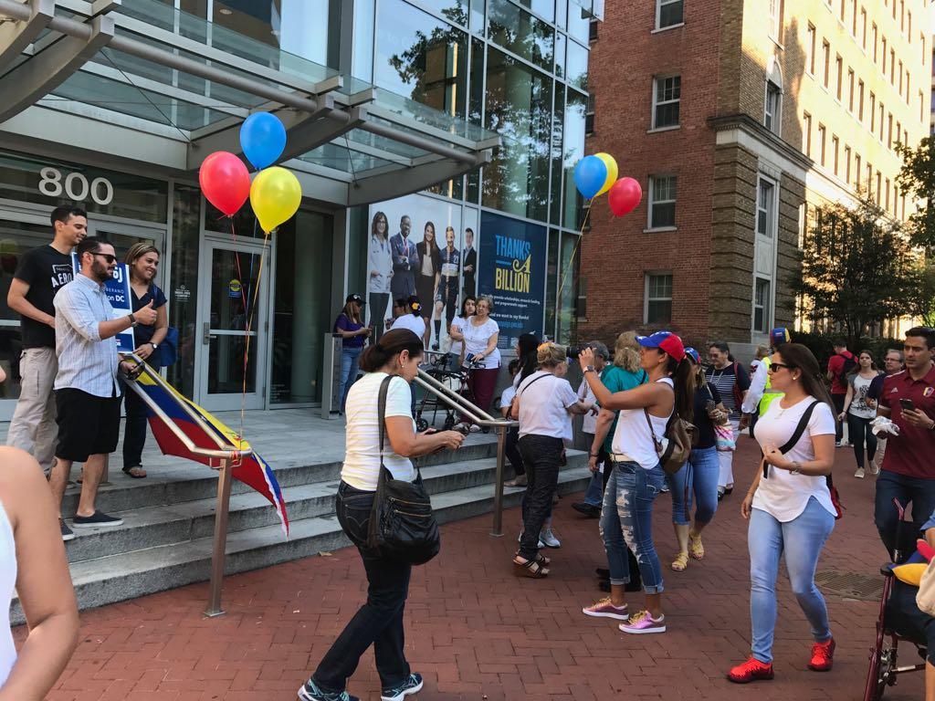 Venezolanos en Washington DC. Foto: @TeLoCuentoNews