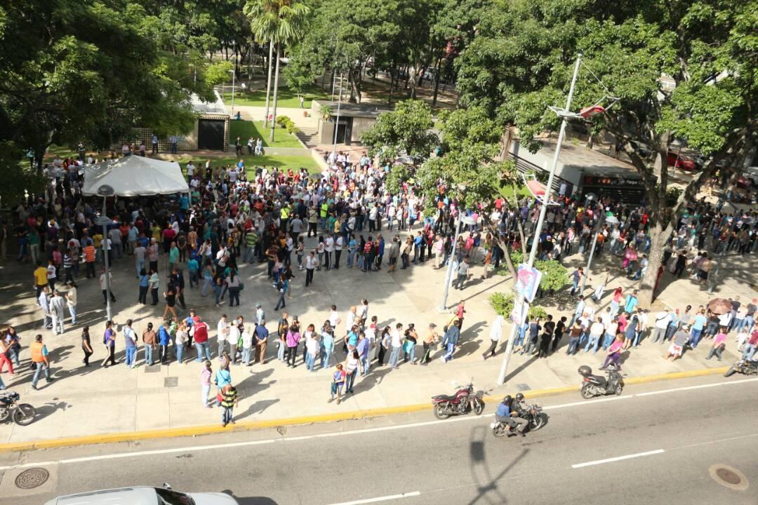 Punto soberano Parque Carabobo / Fotos: Will Jiménez - La Patilla