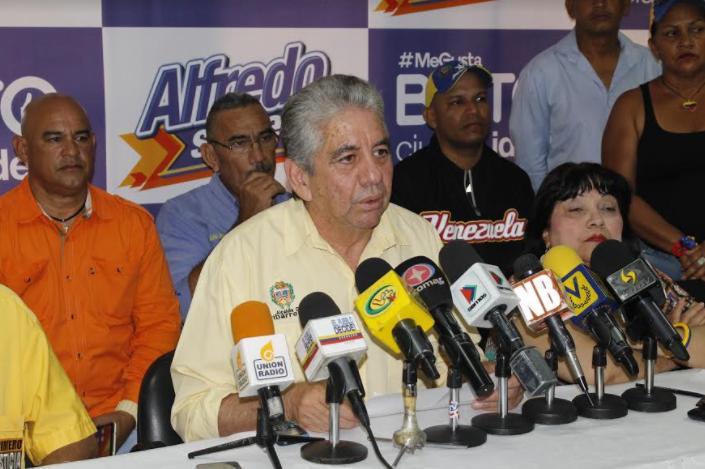 El alcalde del municipio Iribarren, Alfredo Ramos