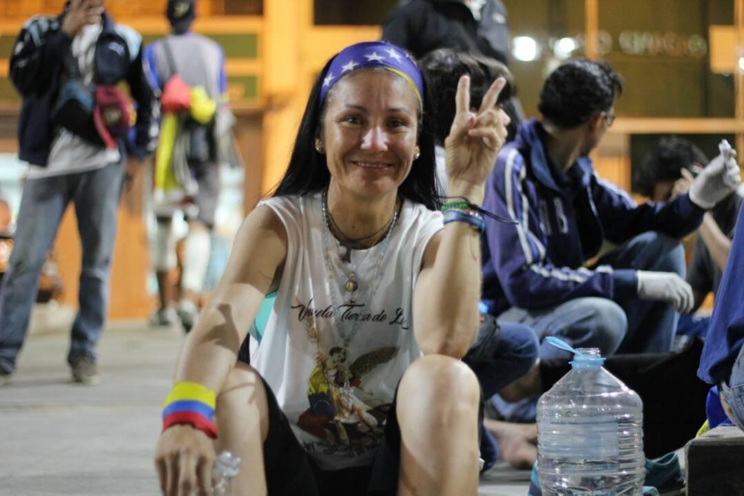 Con los pies maltratados y con Venezuela en el corazón llegaron los gochos libertarios a Caracas Foto: Régulo Gómez / LaPatilla.com