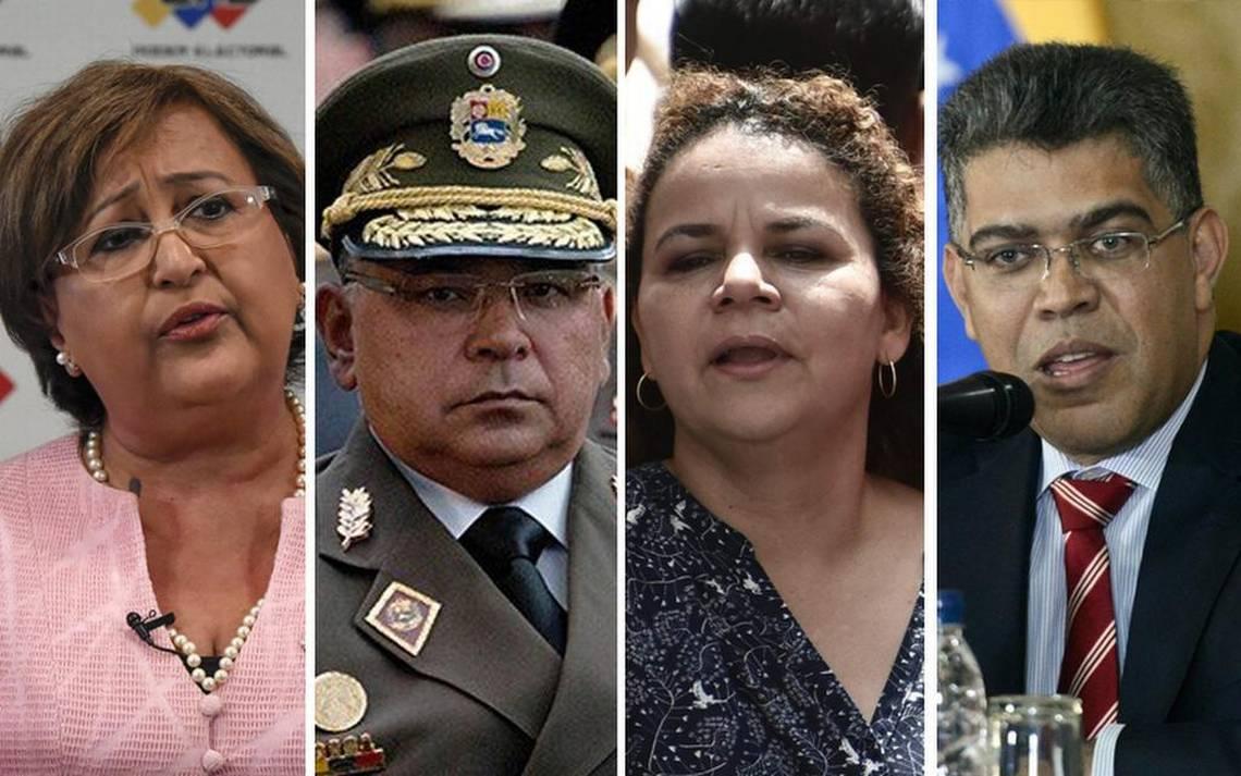 Los sancionados Tibisay Lucena, Néstor Reverol, Iris Varela y Elias Jaua.