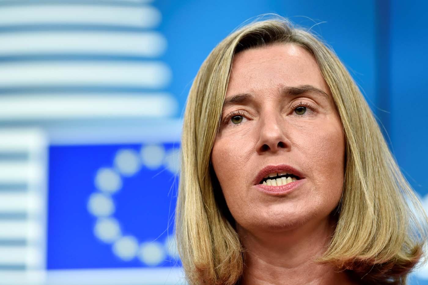 La máxima diplomática de la Unión Europea, Federica Mogherini, en una rueda de prensa en Bruselas, jul 25, 2017. REUTERS/Eric Vidal