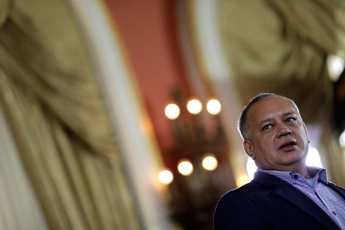 National Constituent Assembly member Diosdado Cabello attends Tarek William Saab's (not pictured) appointment ceremony as new chief prosecutor in Caracas, Venezuela, August 5, 2017. REUTERS/Ueslei Marcelino