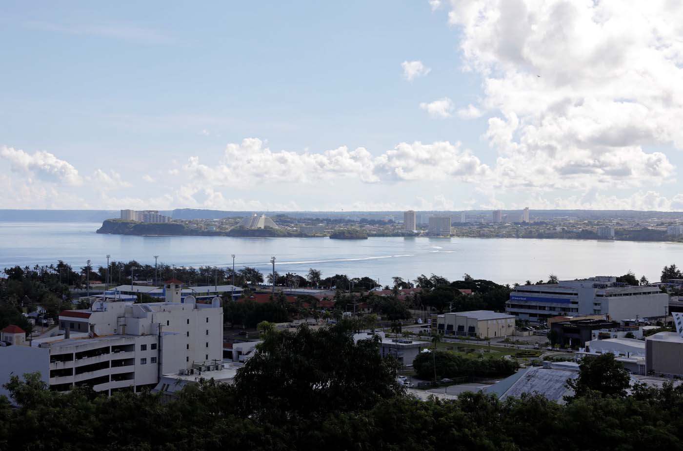 A view of a part of the Tamuning city overlooking the Tumon tourist district on the island of Guam, a U.S. Pacific Territory, August 11, 2017. REUTERS/Erik De Castro