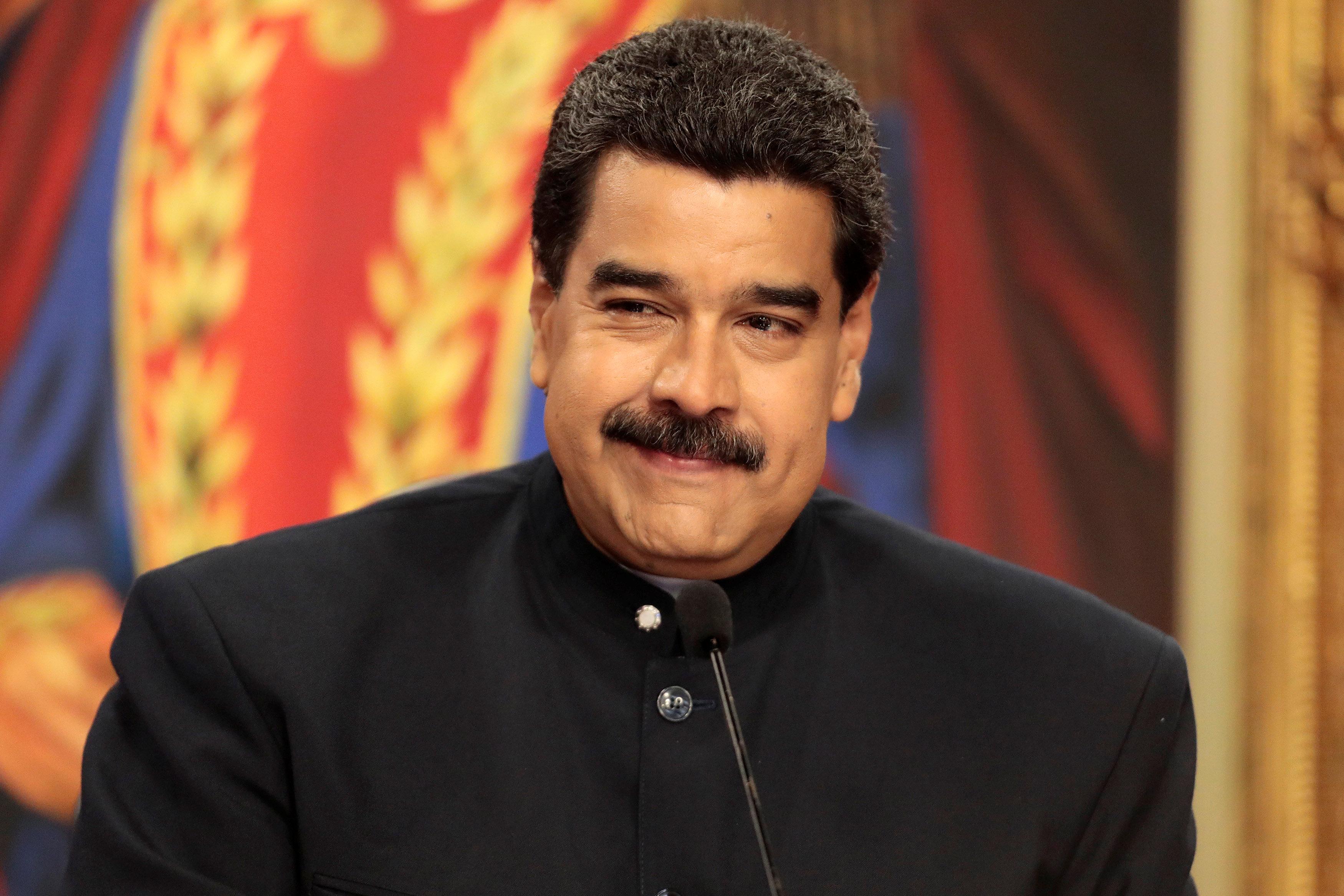 Venezuela's President Nicolas Maduro delivers a news conference at Miraflores Palace in Caracas, Venezuela August 22, 2017. REUTERS/Marco Bello