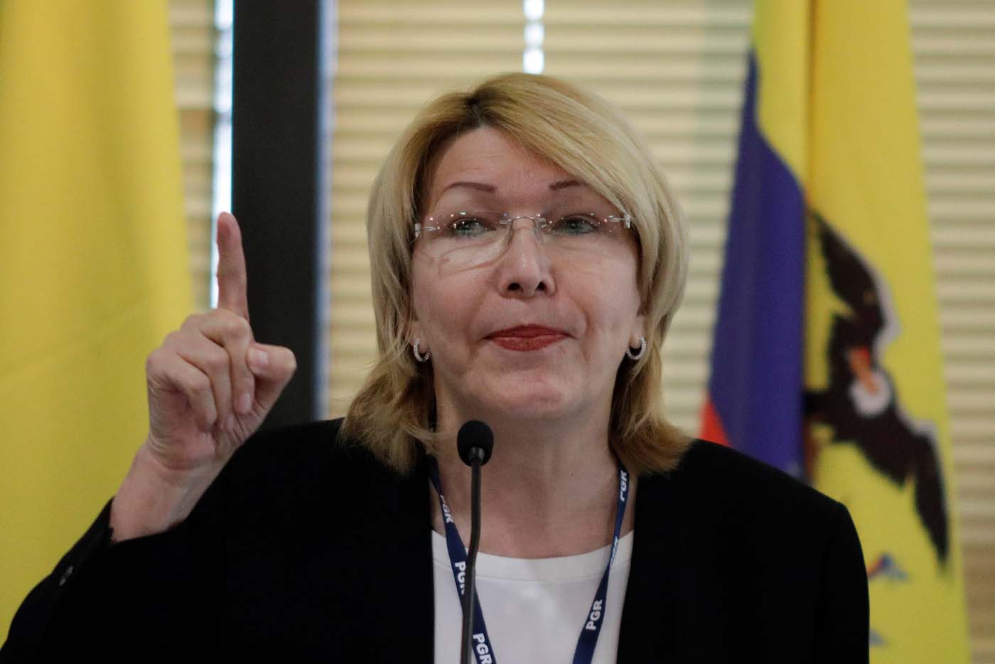 Venezuela's former chief prosecutor Luisa Ortega Diaz gestures during a meeting with representatives from the Latin American regional trading alliance Mercosur, in Brasilia, Brazil August 23, 2017. REUTERS/Ueslei Marcelino