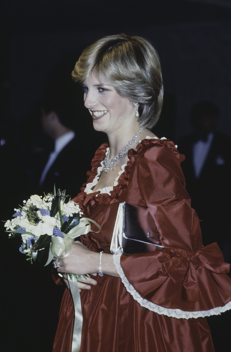 The Princess of Wales (1961 - 1997, later Diana, Princess of Wales) at a Royal Gala Performance that opened the Barbican Arts Centre in London, 4th March 1982. She is wearing a full length red evening gown by Belville Sassoon, April 1982. (Photo by Hulton Archive/Getty Images)