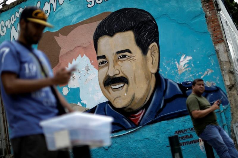 En la imagen, un dibujo con la imagen del presidente Nicolás Maduro en Venezuela, el 7 de agosto de 2017. REUTERS/Ueslei Marcelino
