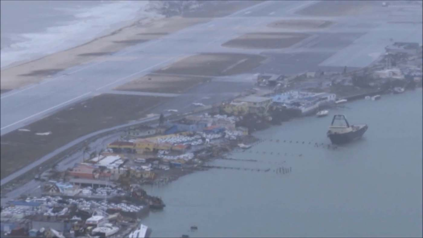 The aftermath of Hurricane Irma on Sint Maarten Dutch part of Saint Martin island in the Carribean is seen in the still grab taken from a video footage made September 6, 2017. NETHERLANDS MINISTRY OF DEFENCE via REUTERS THIS IMAGE HAS BEEN SUPPLIED BY A THIRD PARTY. MANDATORY CREDIT.NO RESALES. NO ARCHIVES
