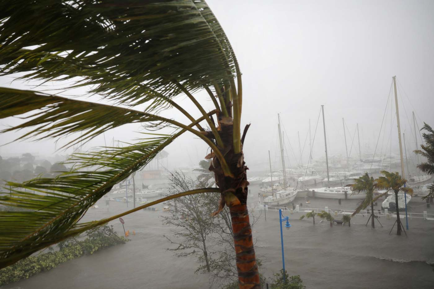 Boats are seen at a marina in Coconut Grove as Hurricane Irma arrives at south Florida, in Miami, Florida, U.S., September 10, 2017. REUTERS/Carlos Barria