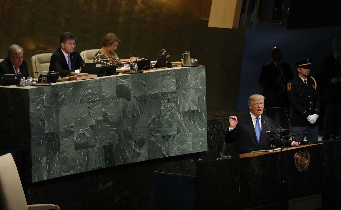 Donald Trump, presidente de Estados Unidos en la Asamblea General de la ONU (Foto REUTERS/Shannon Stapleton)