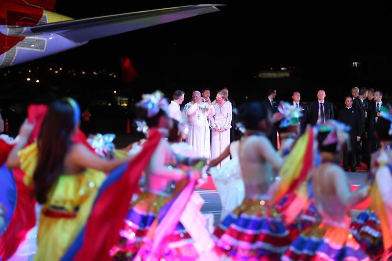 El papa Francisco se despide de Colombia tras su visita de cinco días (Foto: EFE)