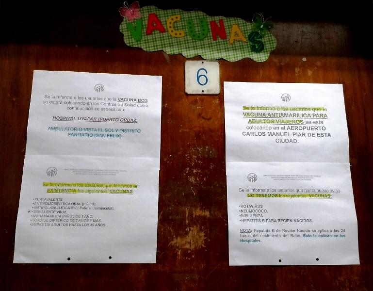 Según el Distrito Sanitario N° 2 Caroní, la vacuna SRP no ha estado escasa en Venezuela en los últimos dos años / FOTO ORIANA FAORO