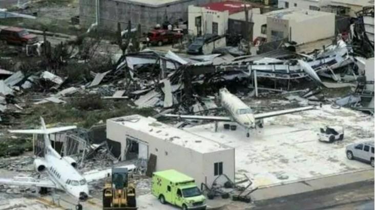 Una de las imágenes que recorren el mundo del aeropuerto de Saint Marteen (Gentileza: Diario El Nacional)