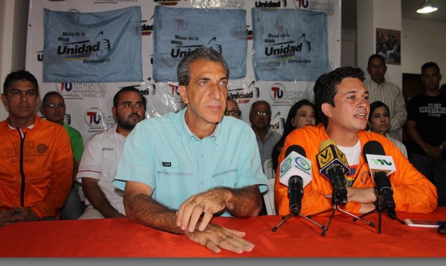 iagio Pilieri denuncio irregularidades en primarias yaracuy 2017. Foto Nota de Prensa
