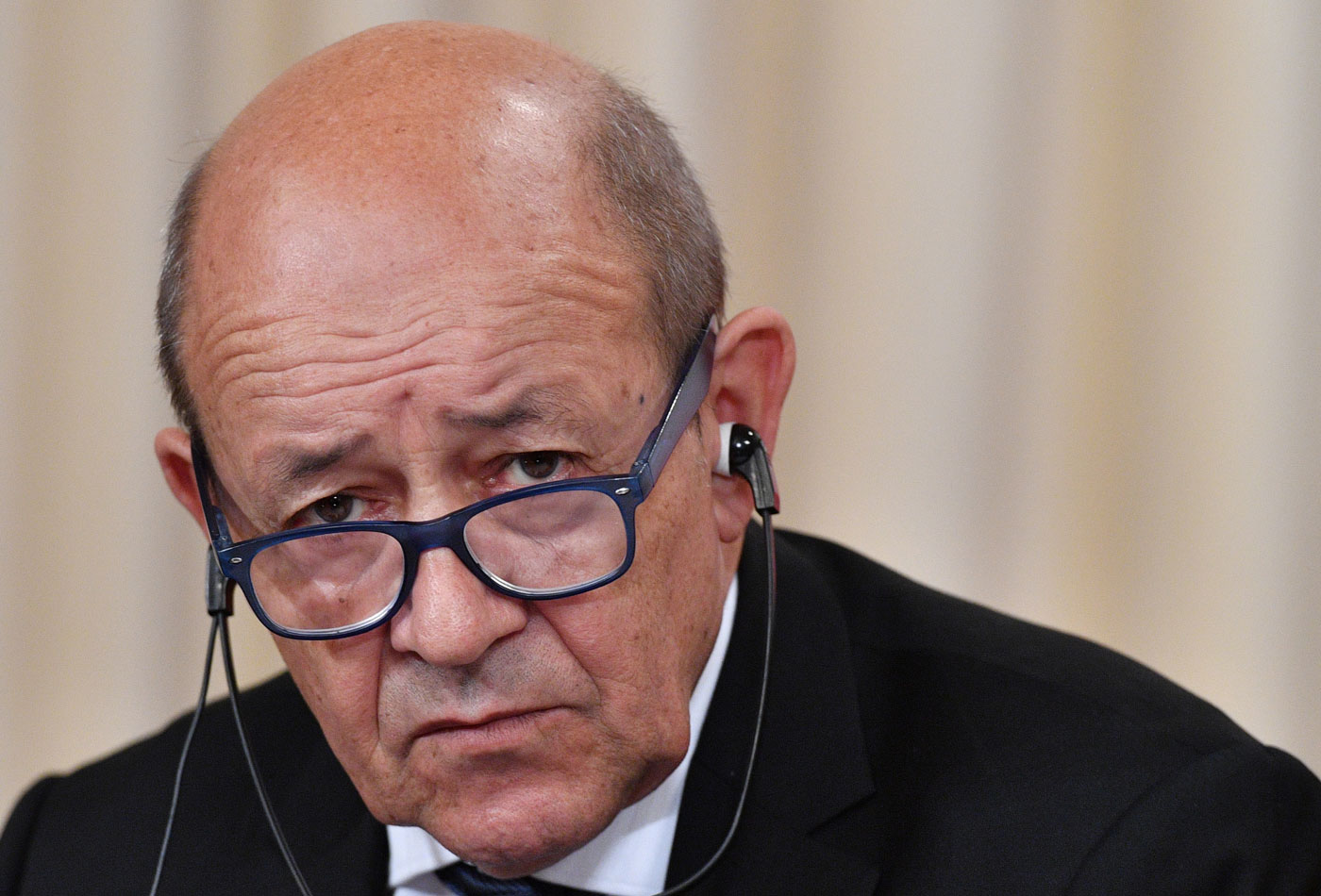 El canciller de Francia Jean-Yves Le Drian (Foto AFP)